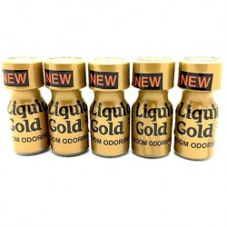 Liquid Gold Poppers x 5 - from UK Poppers online